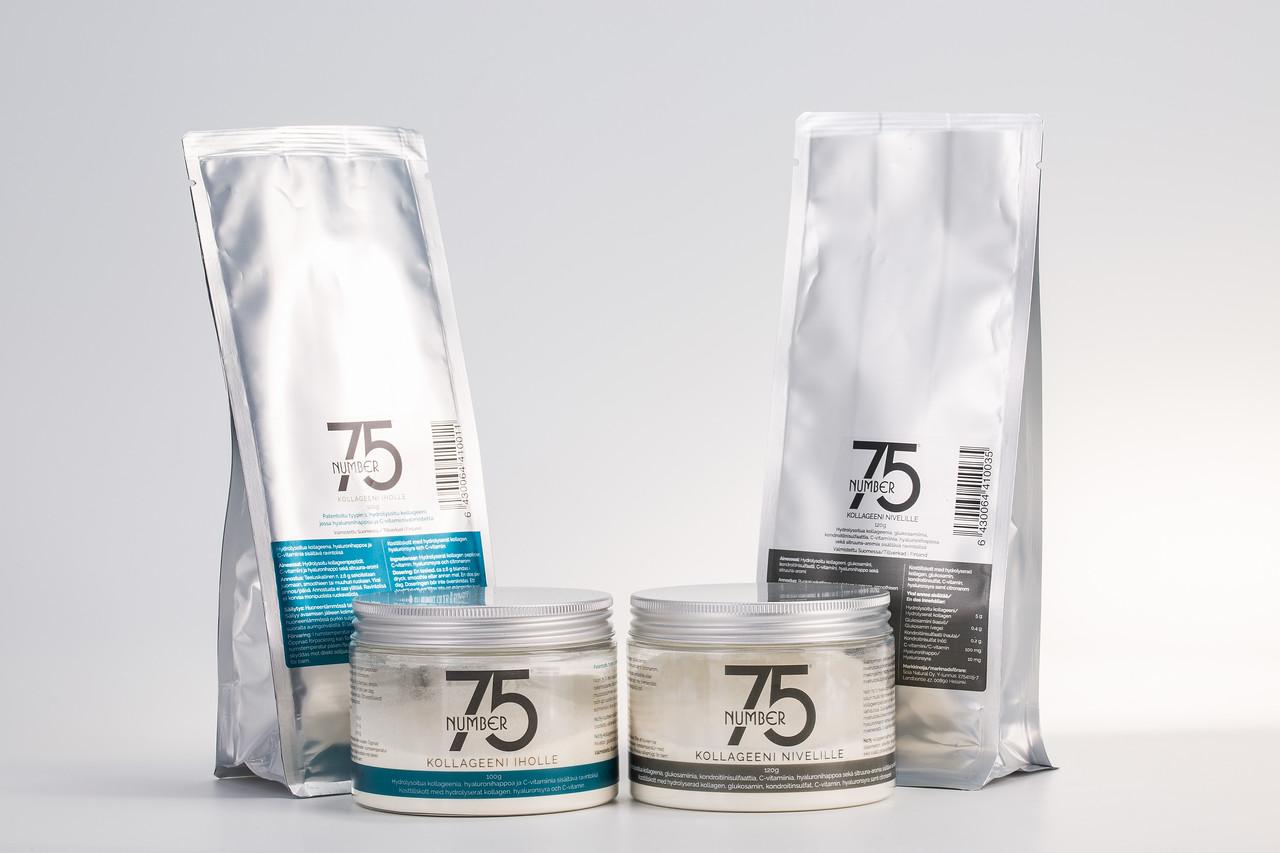 No75 Kollageeni tuotteet ovat valmistettu Suomessa